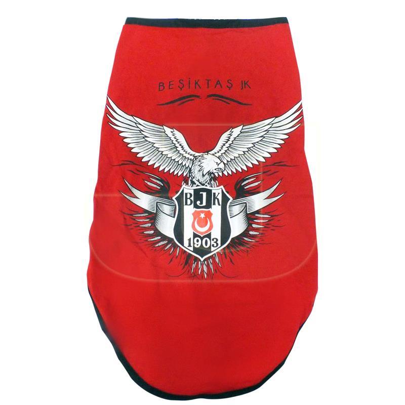 BJK Penye Köpek Tişörtü Kırmızı Large Lisanslı Ürün | 43,65 TL