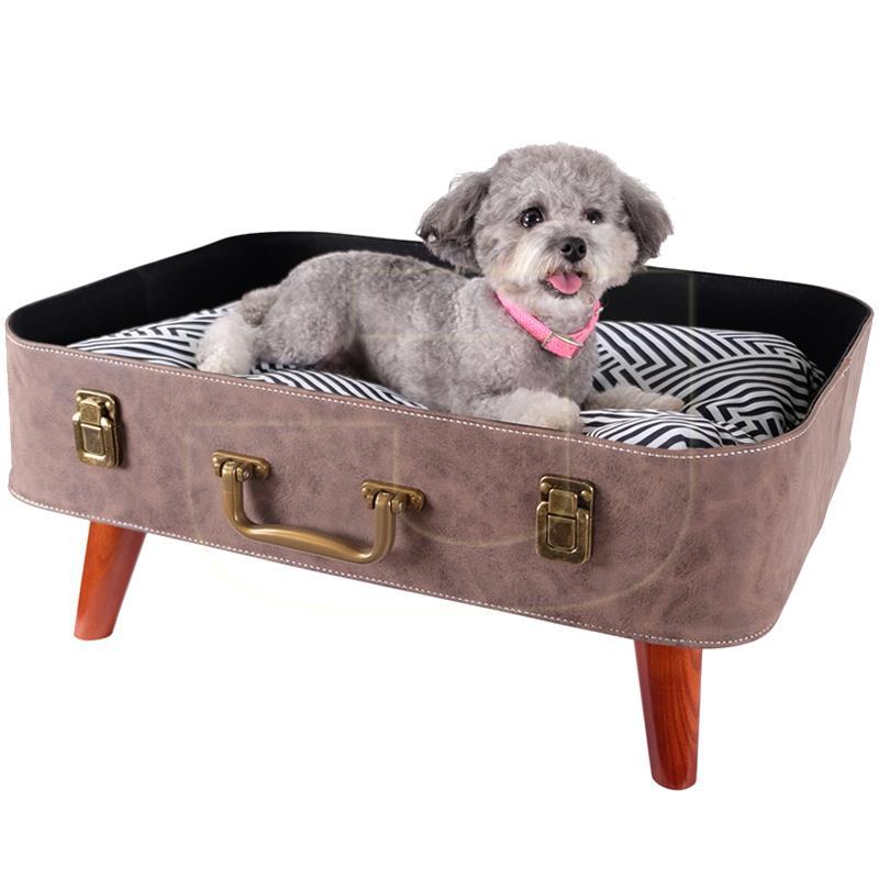 İbiyaya Vintage Retro Bavul Kedi Köpek Yatağı 56 cm | 442,23 TL