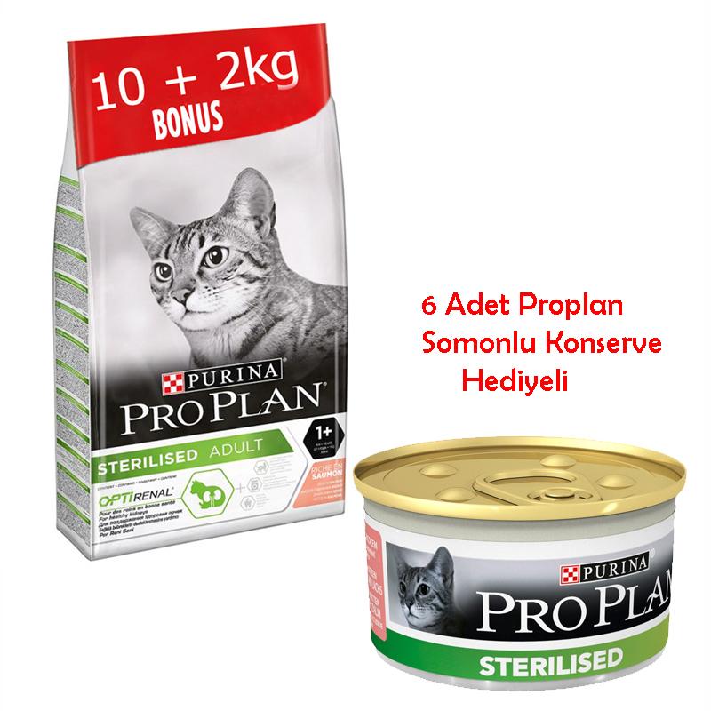 ProPlan Optirenal Somonlu Kısırlaştırılmış Kedi Maması 10+2 Kg Hediye | 397,48 TL