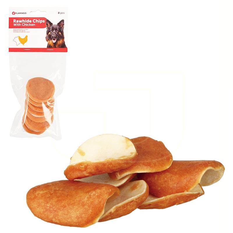 Flamingo Rawhide Chips Tavuklu Cips Köpek Ödülü 100 gr   26,88 TL