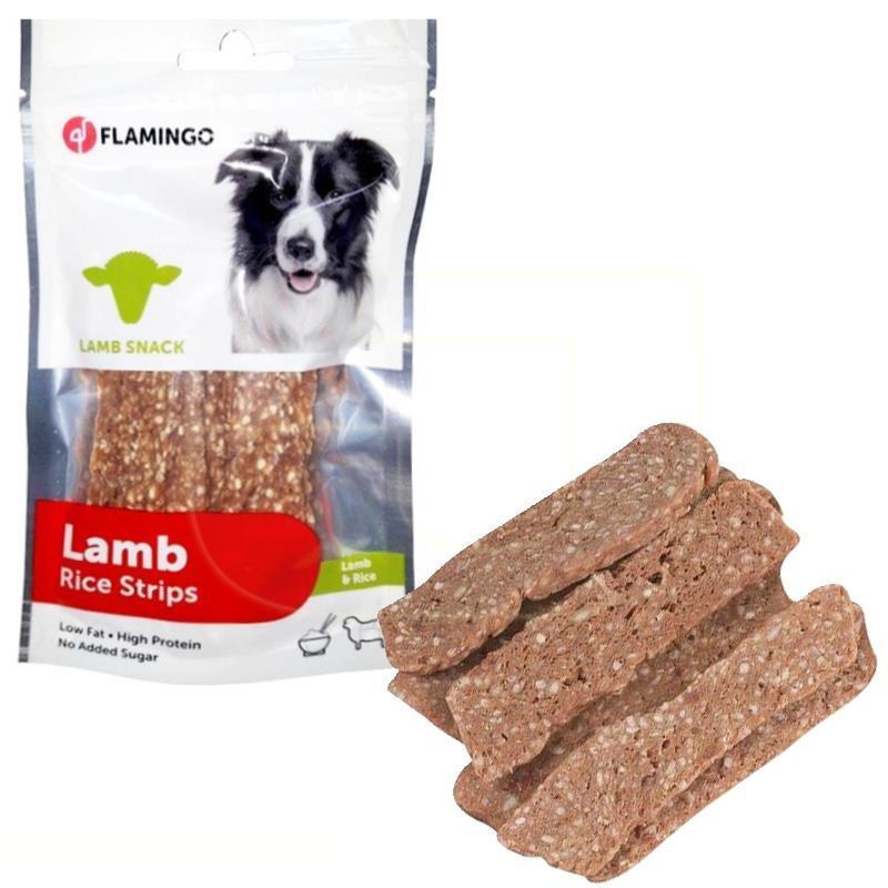 Flamingo Lamb Strips Kuzu Ve Pirinçli Şerit Köpek Ödülü 85 gr | 26,98 TL
