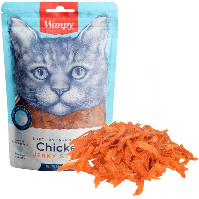 Wanpy Yumuşak Tavuklu Şerit Kedi Ödülü 80 gr