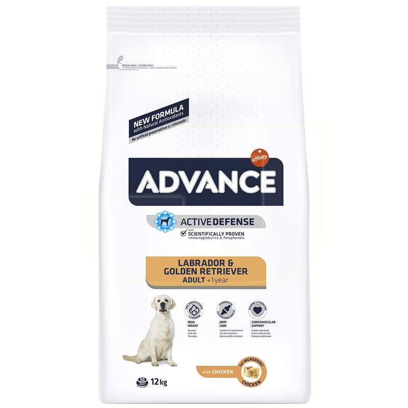 Advance Labrador Ve Golden Retriever Tavuklu Köpek Maması 12 Kg | 390,92 TL