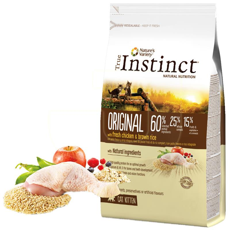 True Instinct Düşük Tahıllı Tavuklu Yavru Kedi Maması 300 gr   31,42 TL