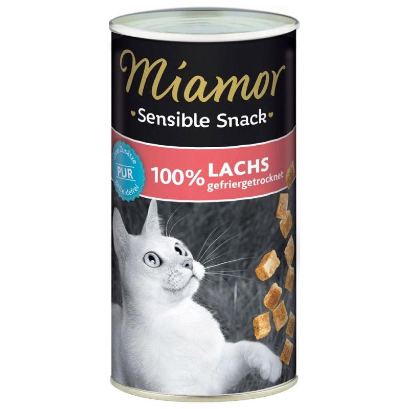 Miamor Kedi Ödülü Hassas Kediler için Somonlu Kedi Ödül Maması 30 gr | 26,94 TL