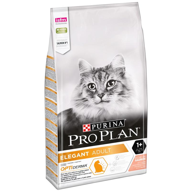 ProPlan Somonlu Kedi Maması Elegant Tüy Yumağı Önleyici 10 Kg | 584,99 TL