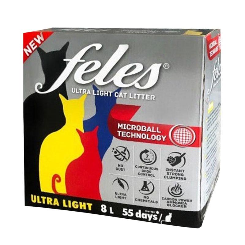 Feles Ultra Light Karbonlu Topaklaşan Kedi Kumu 8 Litre | 42,13 TL