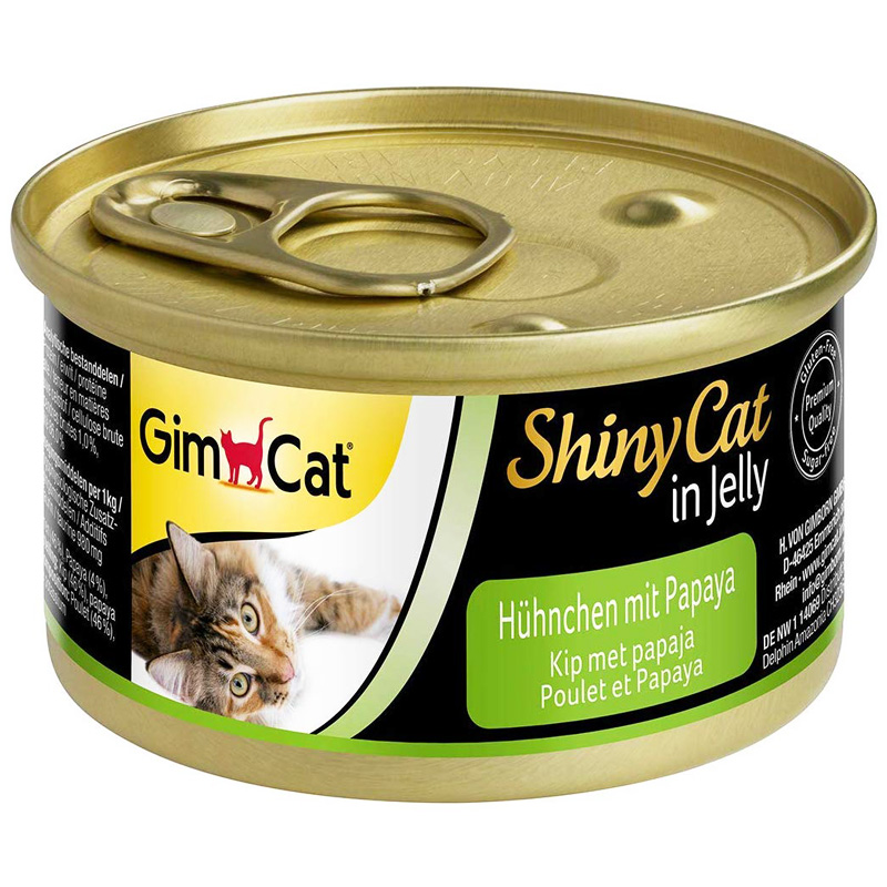 Gimcat Shinycat Tavuklu Ve Papayalı Konserve Kedi Maması 70 gr | 9,00 TL