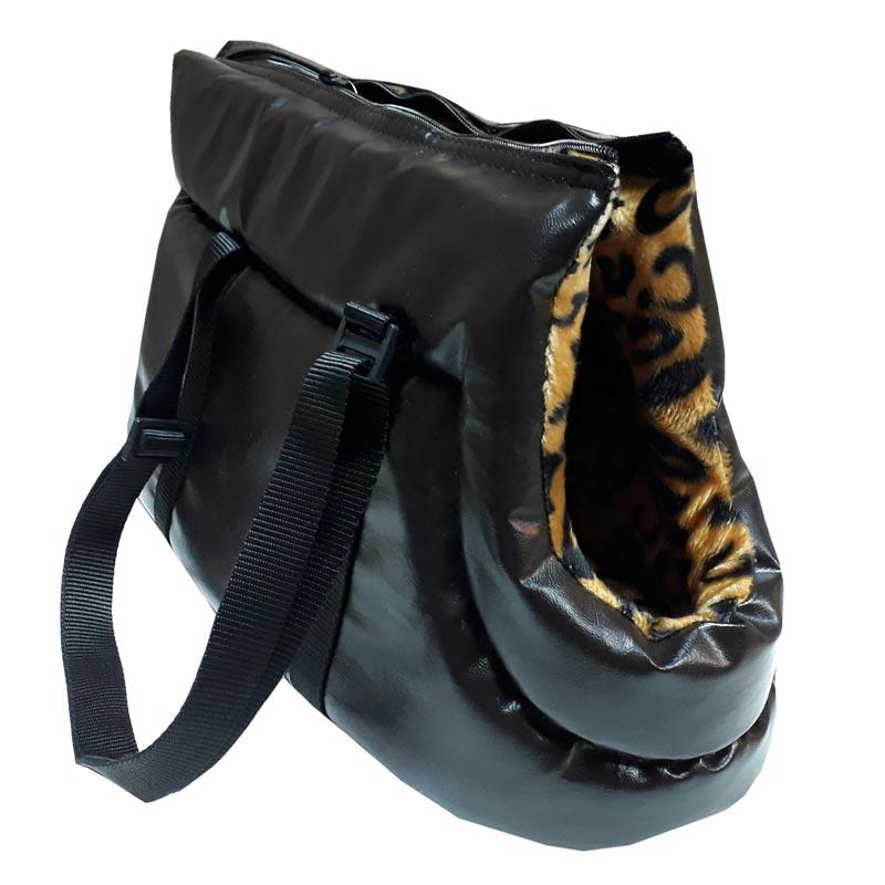 Pet Style Siyah Deri Kedi Ve Köpek Taşıma Çantası No.1 | 99,12 TL