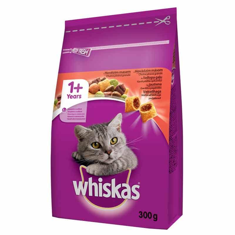 Whiskas Sığır Etli Yetişkin Kedi Maması 300 gr | 10,12 TL