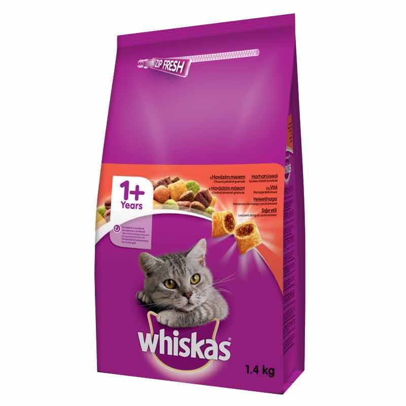 Whiskas Sığır Etli Yetişkin Kedi Maması 1,4 Kg | 43,15 TL