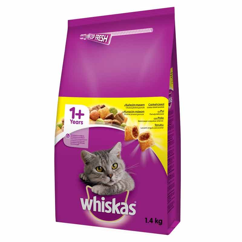 Whiskas Tavuklu Ve Sebzeli Kedi Maması 1,4 Kg  | 40,50 TL