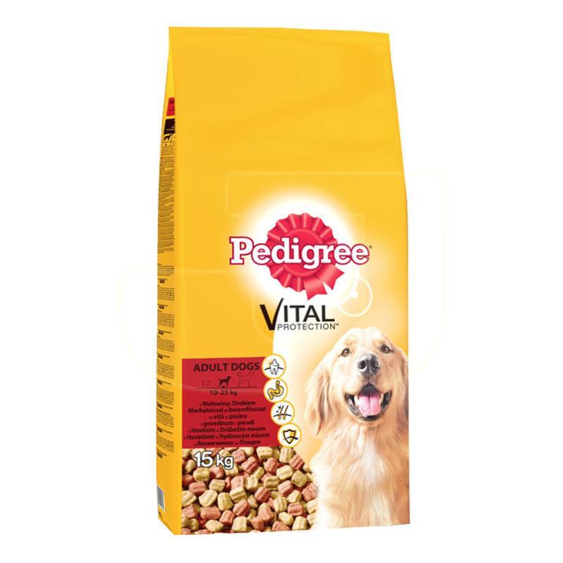 Pedigree Biftekli Ve Kümes Hayvanlı Yetişkin Köpek Maması 15 Kg | 287,96 TL