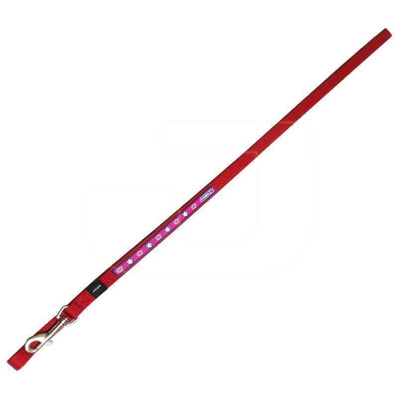 Rogz Köpek Gezdirme Tasması Çiçek Desenli Kırmızı 1,6x140 cm | 35,90 TL