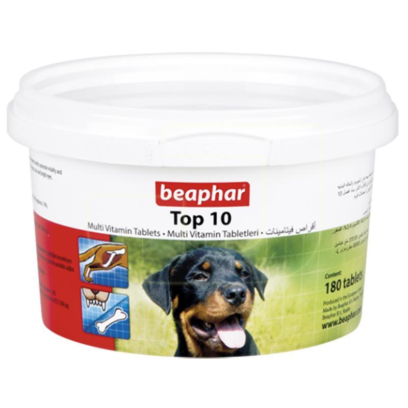 Beaphar Top 10 Köpek Multivitamin Tableti 180 Adet   87,52 TL