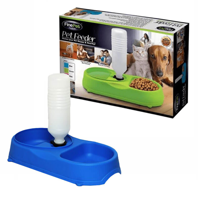 Fine Pet Su Şişeli Kedi Köpek Mama Ve Su Kabı Seti 16x34 cm | 49,01 TL