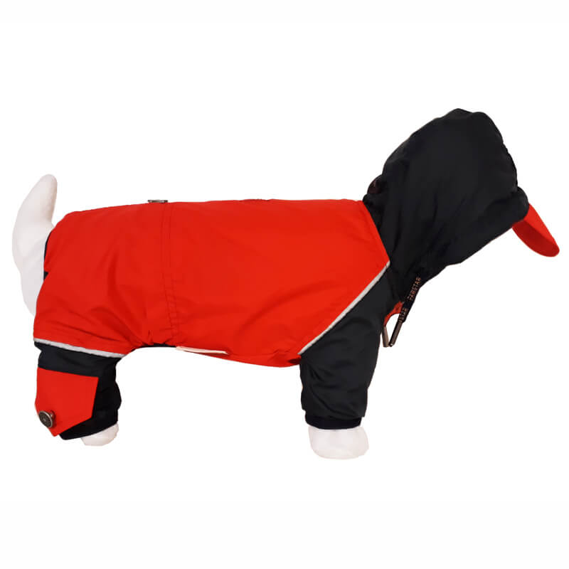 Pawstar Paçalı Köpek Montu Red Romper Small   93,42 TL