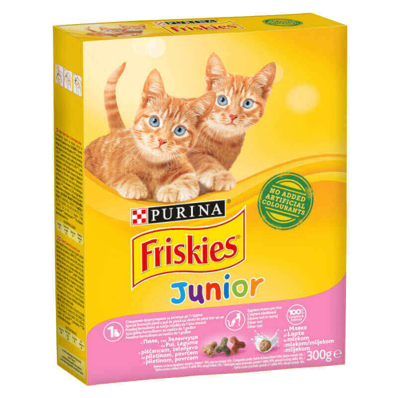 Friskies Yavru Kedi Maması Tavuklu, Sütlü ve Sebzeli 300 gr | 11,15 TL