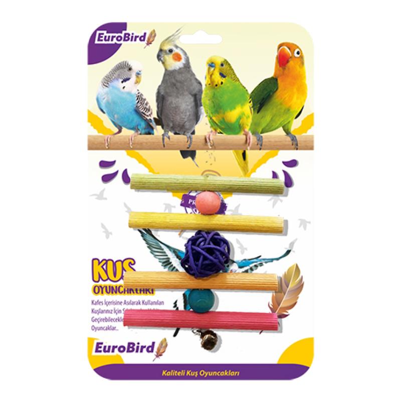 EuroBird Kuş Oyuncağı Bambu Toplu Ve Tünekli 20 cm | 14,24 TL