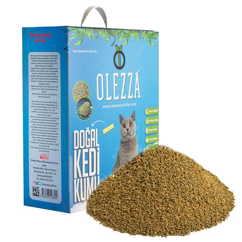 Olezza Organik Kedi Kumu Mısır Granüllü 5 Kg 10 Litre   84,75 TL