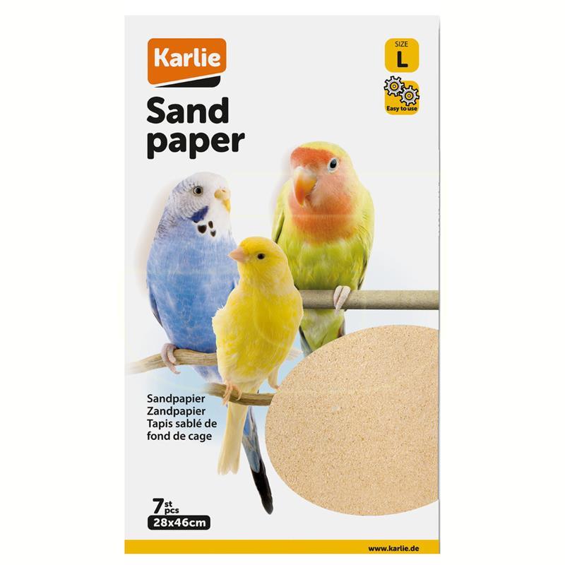 Karlie Kumlu Kağıt Kuş Kafes Altlığı Taban Malzemesi 28x46 cm | 18,92 TL