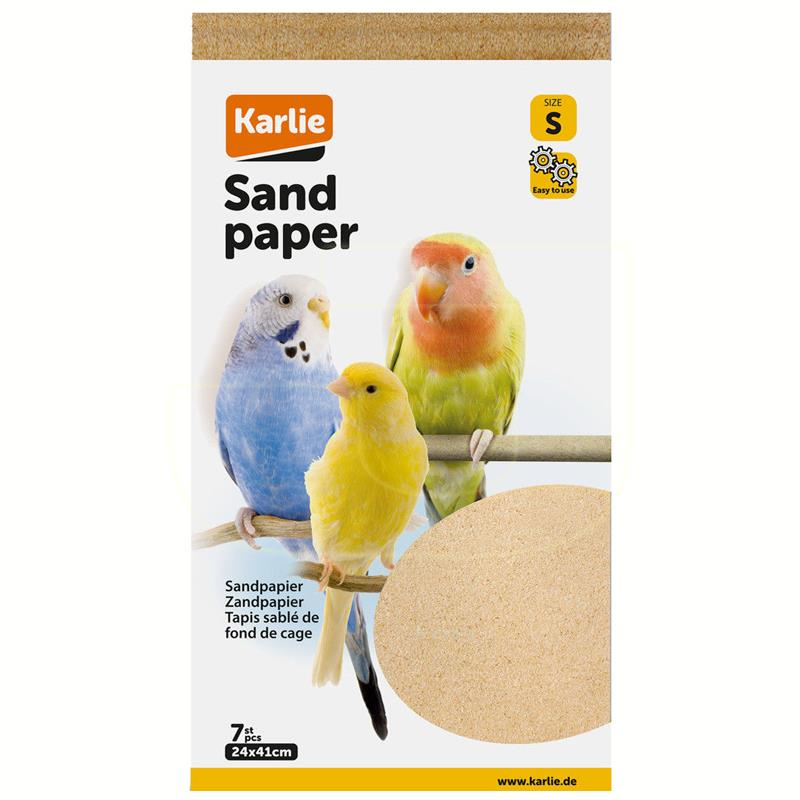 Karlie Kumlu Kağıt Kuş Kafes Altlığı Taban Malzemesi 24x41 cm | 24,37 TL