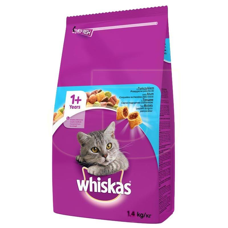 Whiskas Ton Balıklı Ve Sebzeli Yetişkin Kedi Maması 1,4 Kg | 43,15 TL