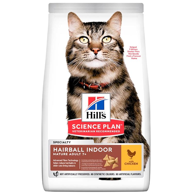 Hills Hairball Indoor Tüy Yumağı İçin Tavuklu Yaşlı Kedi Maması 1,5 Kg | 114,75 TL