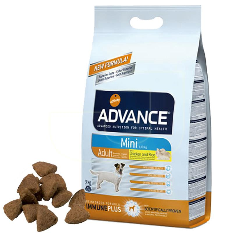 Advance Mini Tavuk Ve Pirinçli Küçük Irk Yetişkin Köpek Maması 3 Kg | 118,92 TL