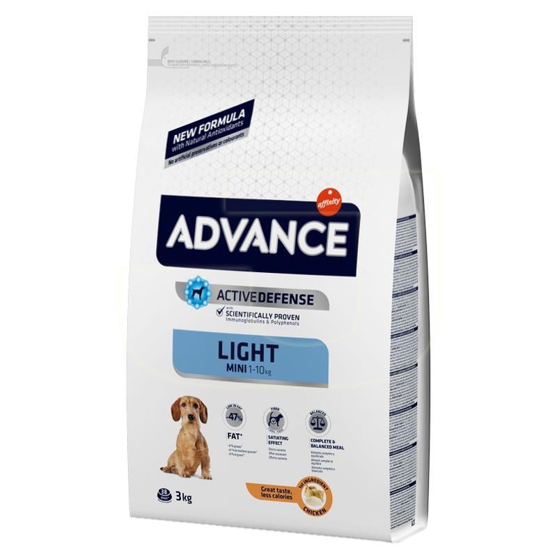 Advance Mini Light Tavuklu Ve Pirinçli Küçük Irk Köpek Maması 3 Kg   123,69 TL