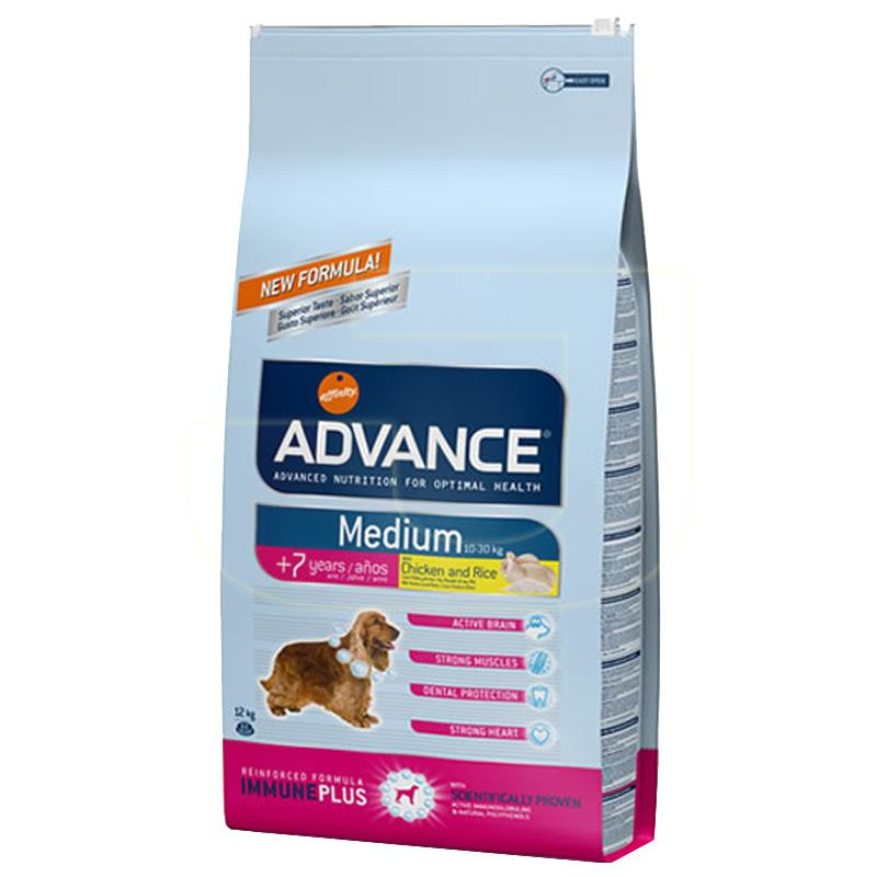 Advance Tavuklu Ve Pirinçli Orta Boy Irk Yaşlı Köpek Maması 12 Kg   356,92 TL