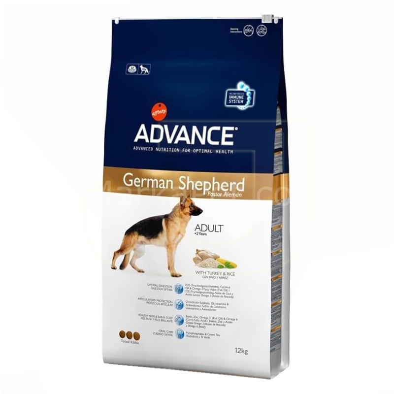 Advance German Shepherd Hindi Ve Pirinçli Yetişkin Köpek Maması 12 Kg | 484,39 TL