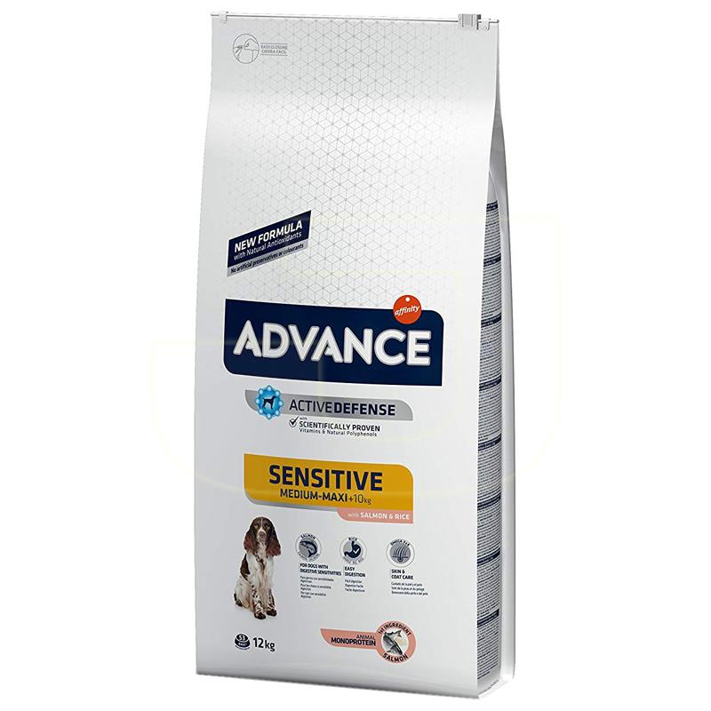 Advance Sensitive Somon Ve Pirinçli Yetişkin Köpek Maması 12 Kg | 369,67 TL