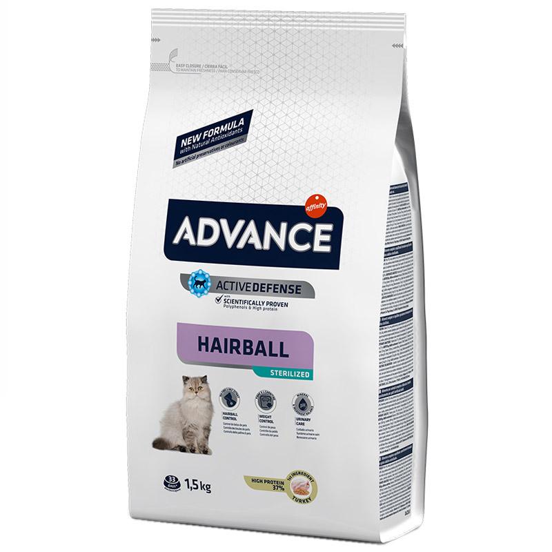 Advance Hairball Tüy Yumağı Önleyen Hindili Kısır Kedi Maması 1,5 Kg | 101,93 TL