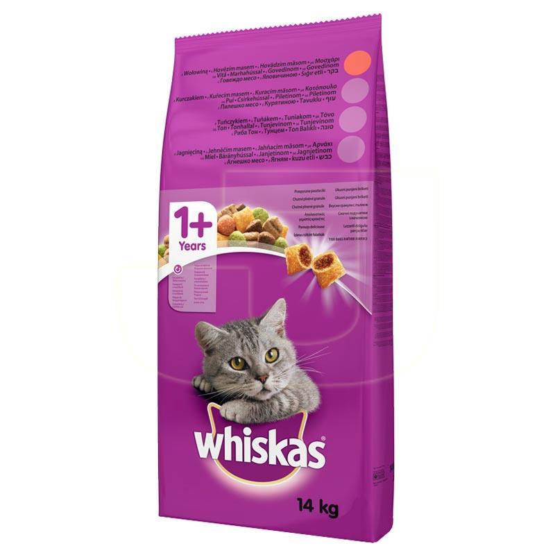 Whiskas Sığır Etli Yetişkin Kedi Maması 14 Kg | 352,52 TL