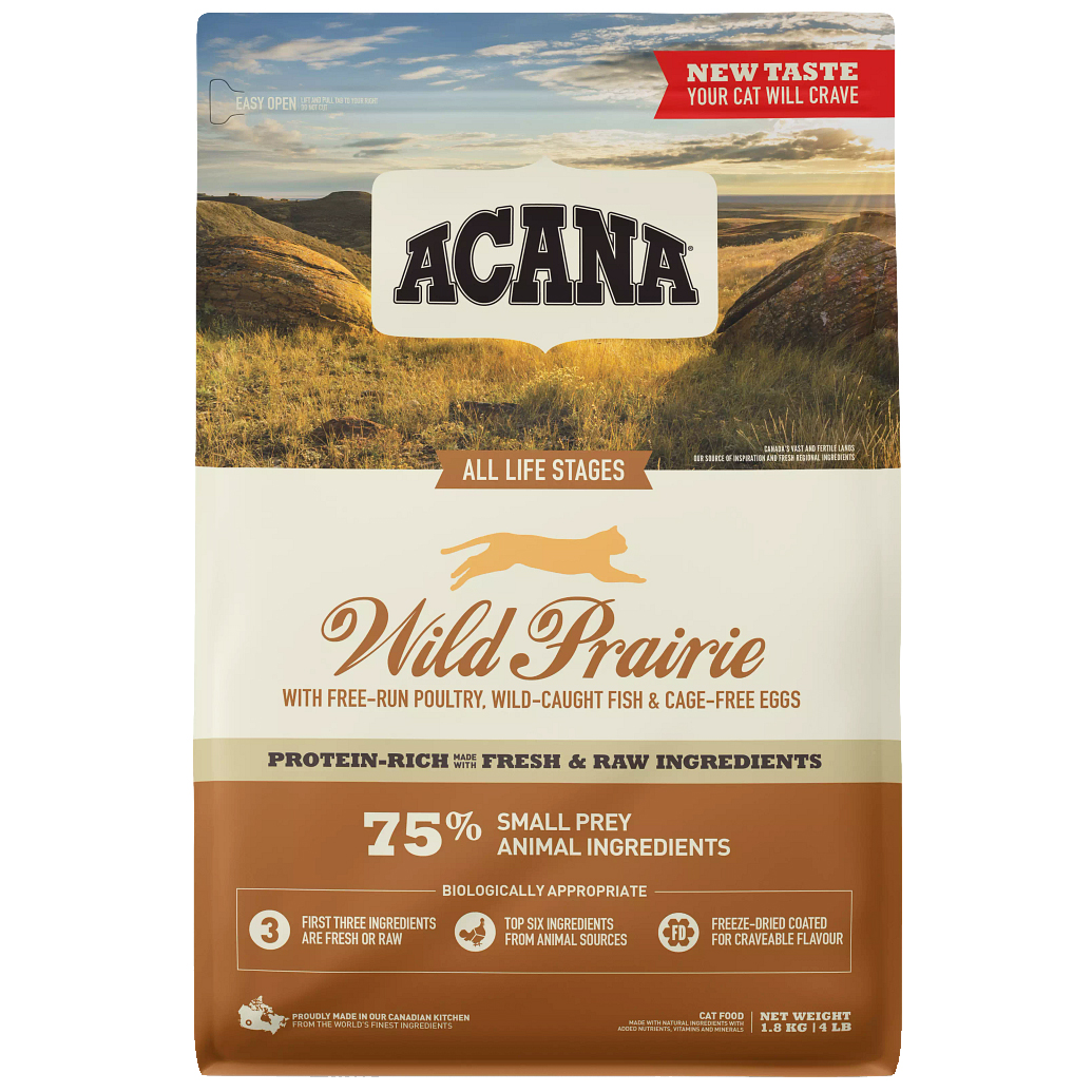 Acana Wild Prairie Tahılsız Tavuklu Ve Balıklı Kedi Maması 1,8 Kg | 246,71 TL