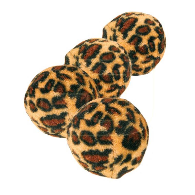 Trixie Leopar Desenli Catnipli Kedi Topu 4 cm 4 Adet   61,68 TL