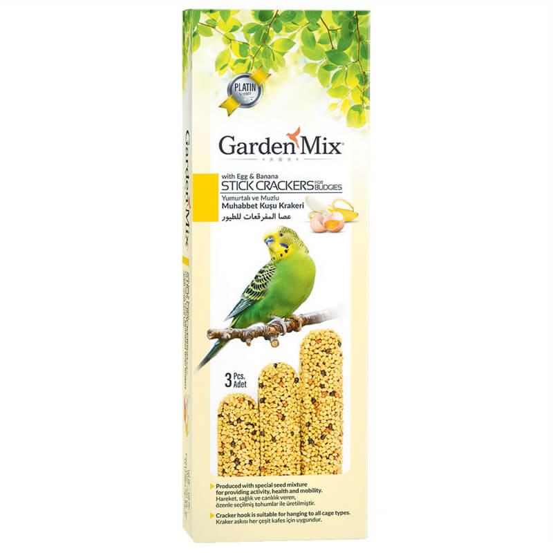 Garden Mix Muzlu Ve Yumurtalı Muhabbet Kuş Krakeri 3 Adet   3,86 TL