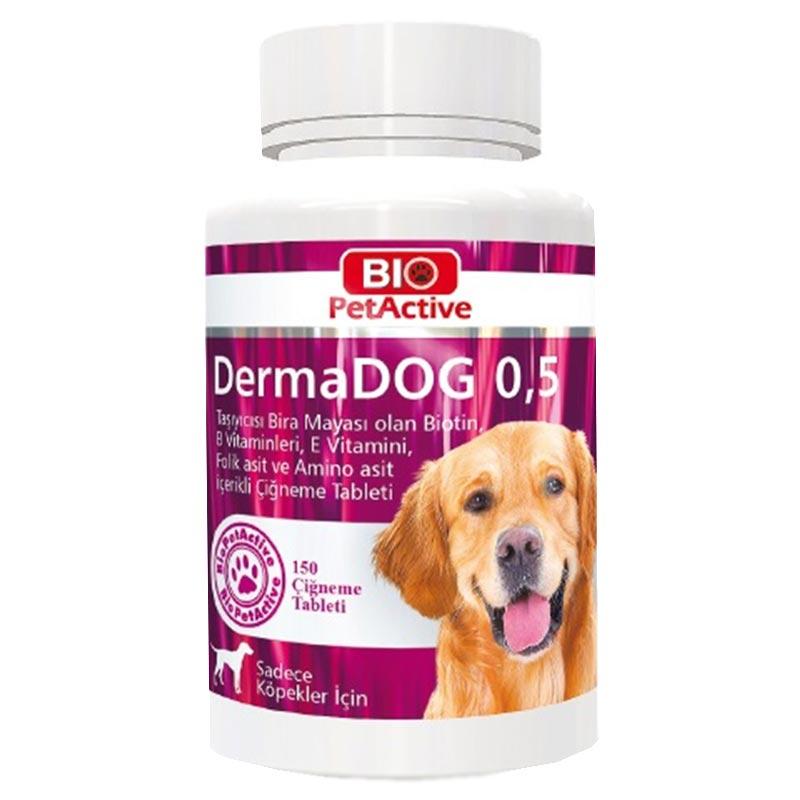 Bio PetActive Dermadog Sarımsaklı Bira Maya Tableti 75 gr 150 Adet | 38,78 TL