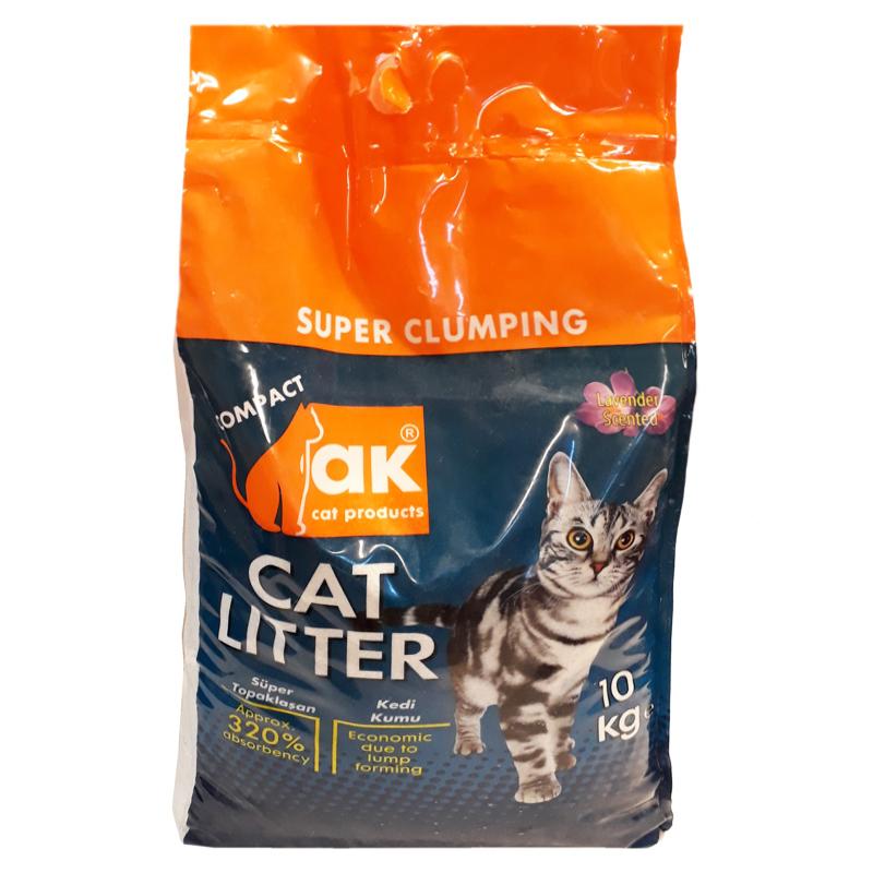 Akkum Lavanta Kokulu Topaklaşan Kedi Kumu 10 Kg | 34,14 TL
